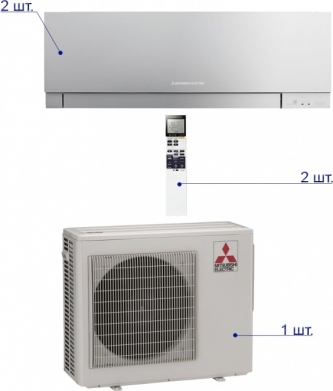 Mitsubishi Electric MXZ-2D42VA/MSZ-EF22VE2S*2шт